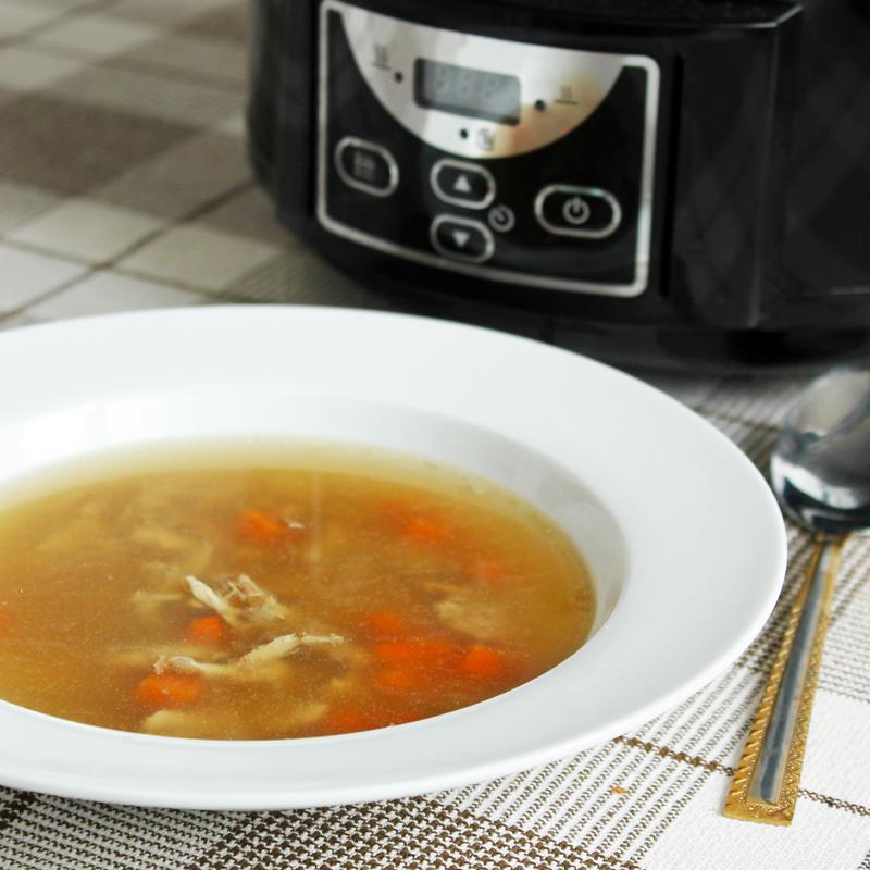 Fitness kuřecí vývar z pomalého hrnce - zdravý recept Bajola