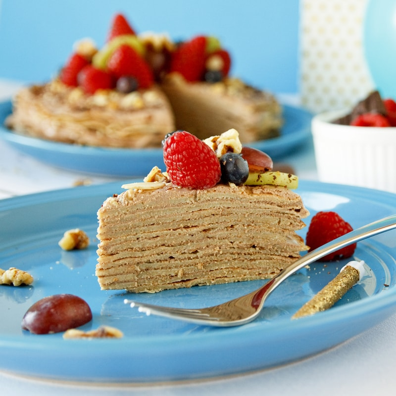 Fitness palačinkový dort - recept Bajola