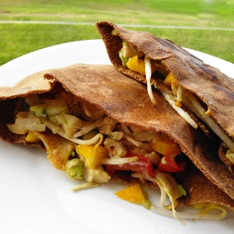 Fitness pita se zeleninou - zdravý recept Bajola