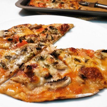 Fitness žampiónová pizza - zdravý recept Bajola