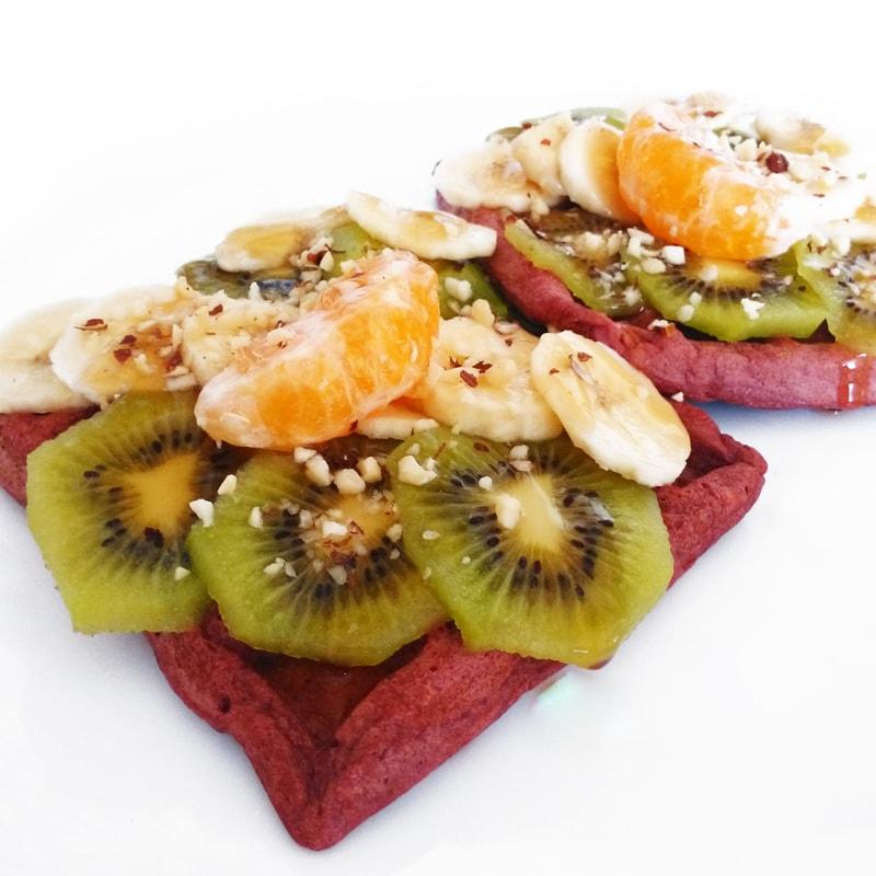 Fitness redvelvet vafle - zdravý recept Bajola