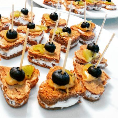 Fitness sladké valentýnské jednohubky - zdravý recept Bajola