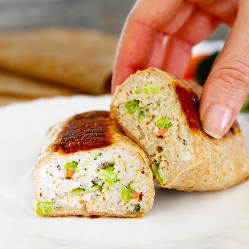 Fitness tuňákové burrito - zdravý recept Bajola