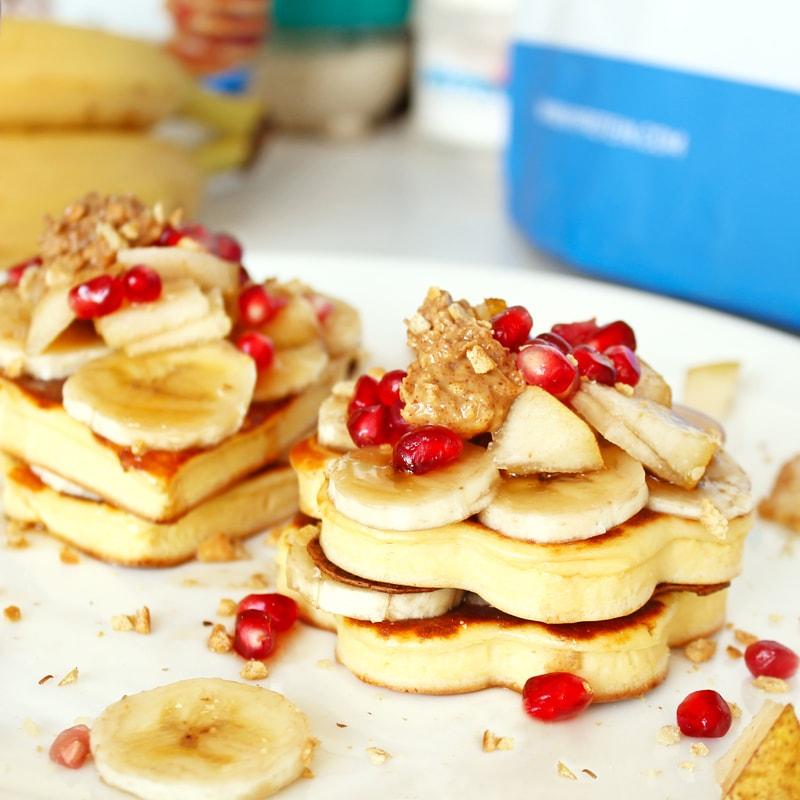 Fitness jogurtové valentýnské lívance - zdravý recept Bajola