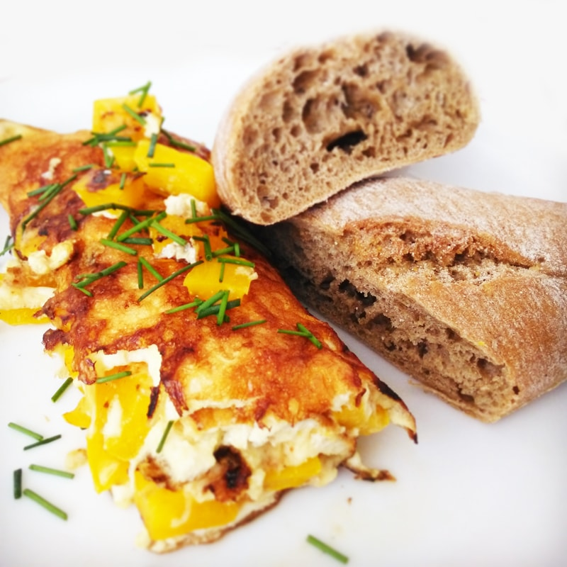 Fitness vaječná omeleta - zdravý recept Bajola