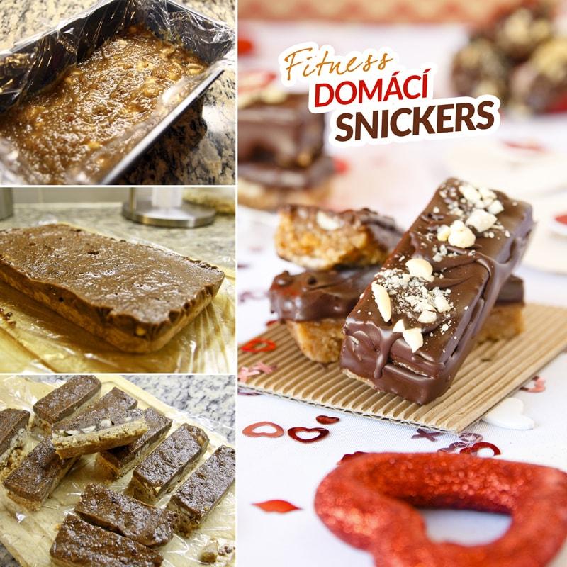 Fitness domácí snickers - zdravý recept Bajola