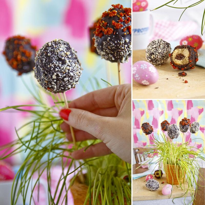 Fitness čokoládové kraslice - velikonoční recept zdravý Bajola