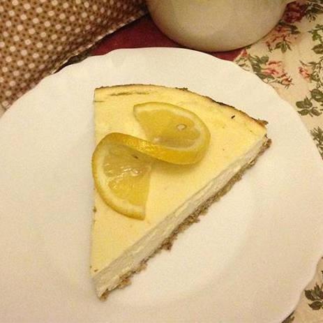 Fitness citrónový cheesecake