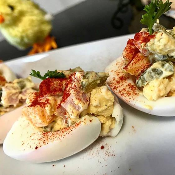 Fitness plněná vejce