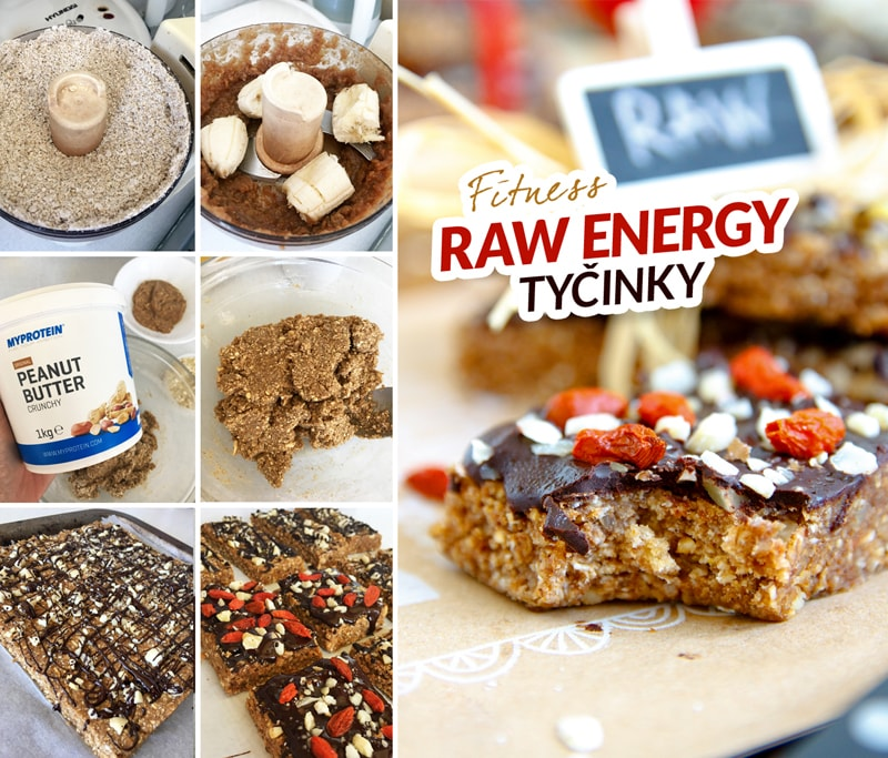 Fitness raw energy tyčinky - zdravý recept Bajola