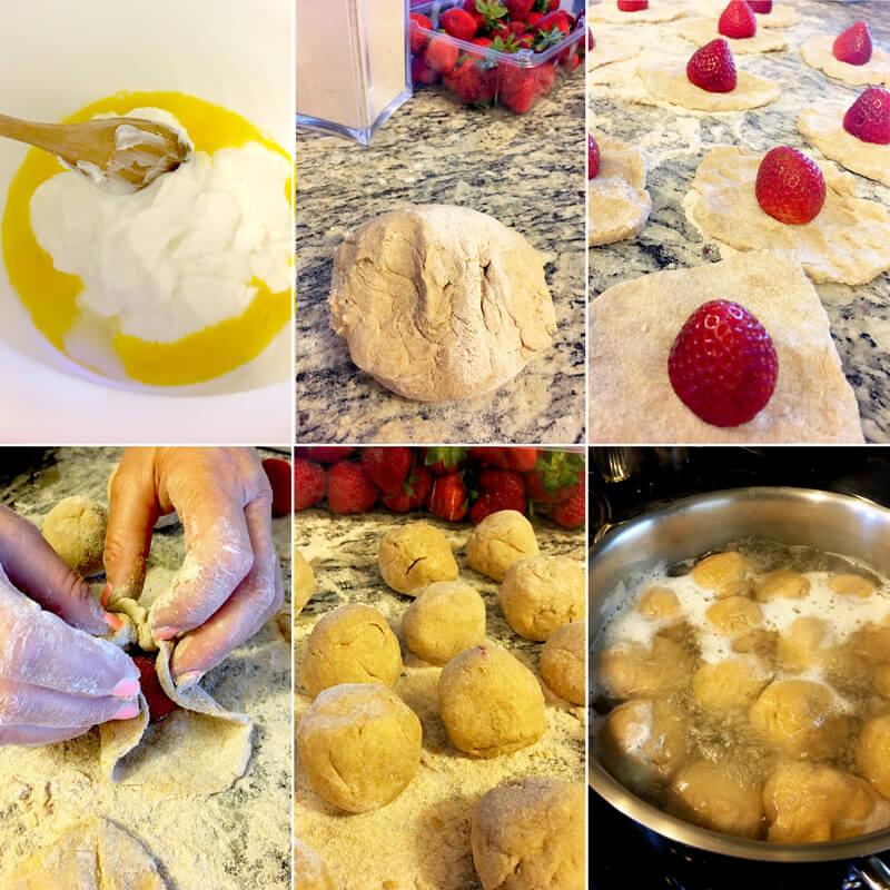 Fitness tvarohové jahodové knedlíky - zdravý recept Bajola