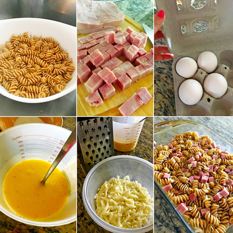 Fitness šunkofleky zapečené těstoviny - zdravý recept Bajola