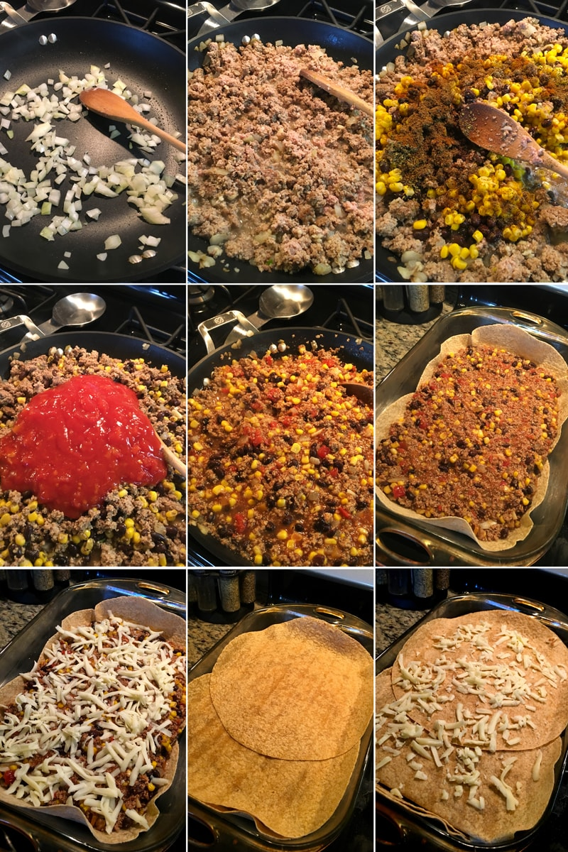 Fitness tortillové taco lavaš lasagne - zdravý recept Bajola