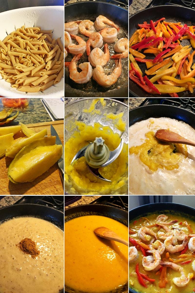 Postup vaření - fitness krevetový salát s mangem na kari - zdravý recept Bajola