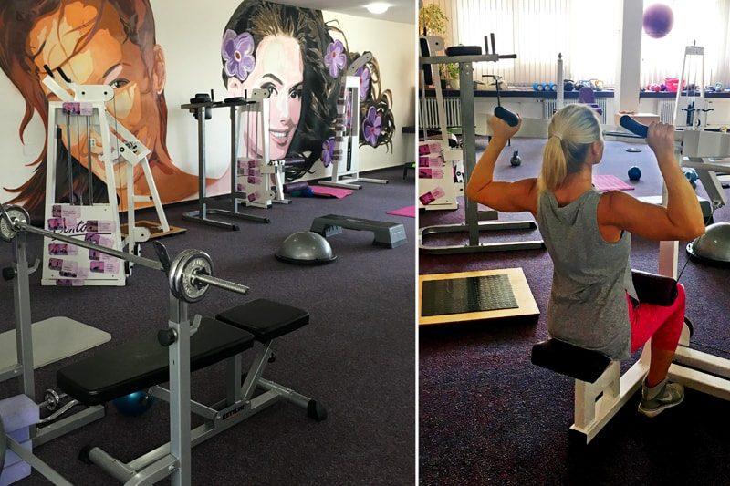 Dámské fitness pro ženy - posilovna Contours