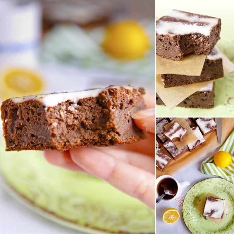 Fitness cuketová buchta perník s citrónovou polevou - zdravý recept Bajola