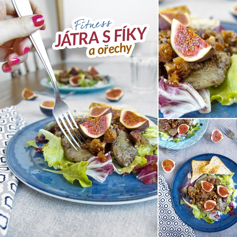 Fitness salát s játry, fíky a ořechy - zdravý recept Bajola