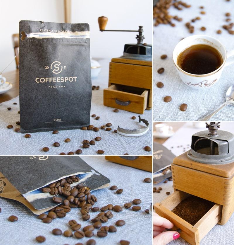 Káva Coffeespot použitá na tiramisu dort