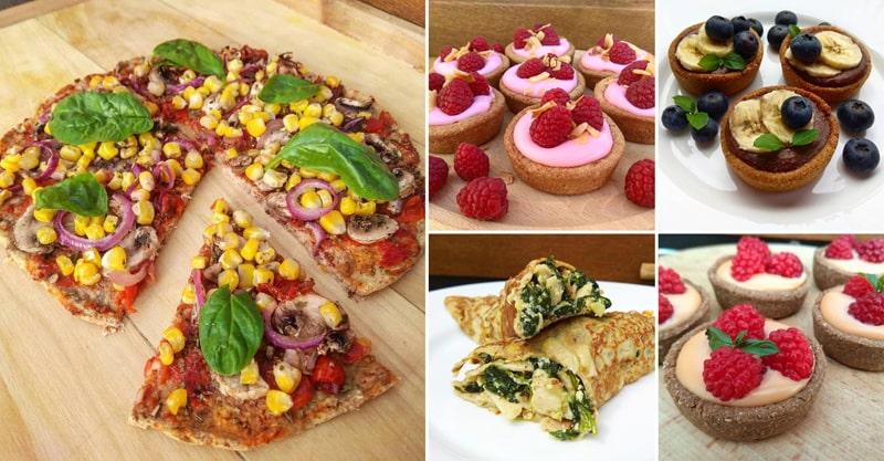 Recepty Instagramerky Moniky Onderkové - tofu pizza, tartaletky, špenátové palačinky