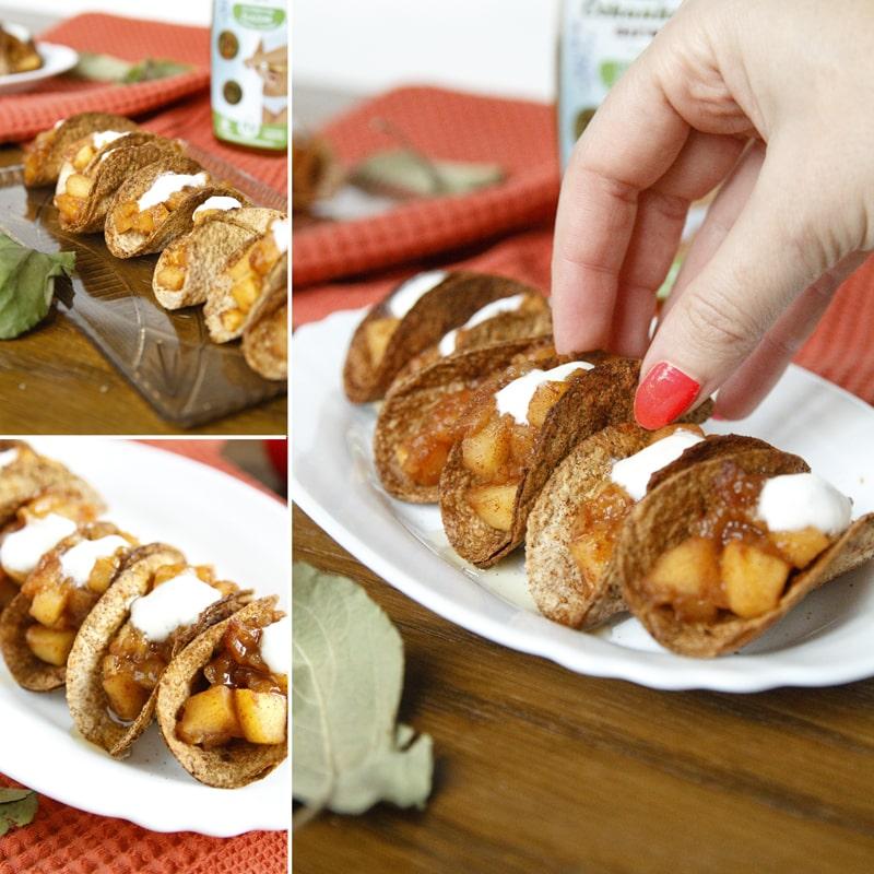 Zdravé jablečné taco jednohubky - fitness recept Bajola