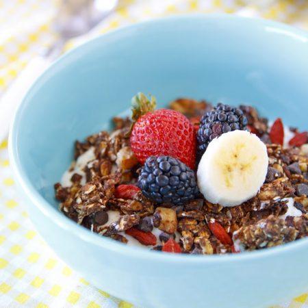 Fitness granola - domácí zdravý recept Bajola