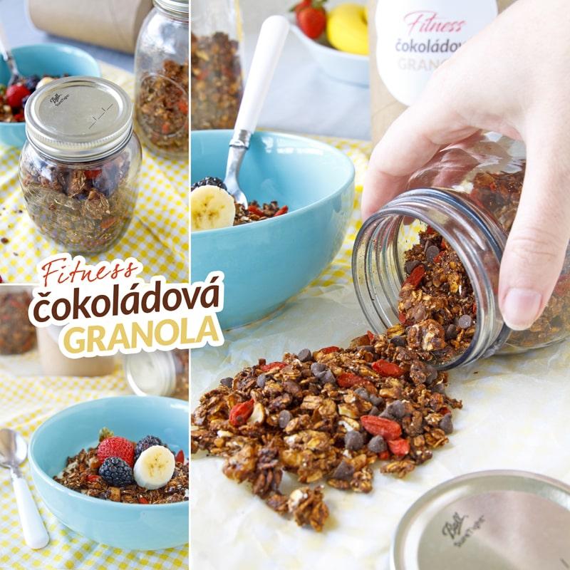 Granola fitness zdravý recept Bajola