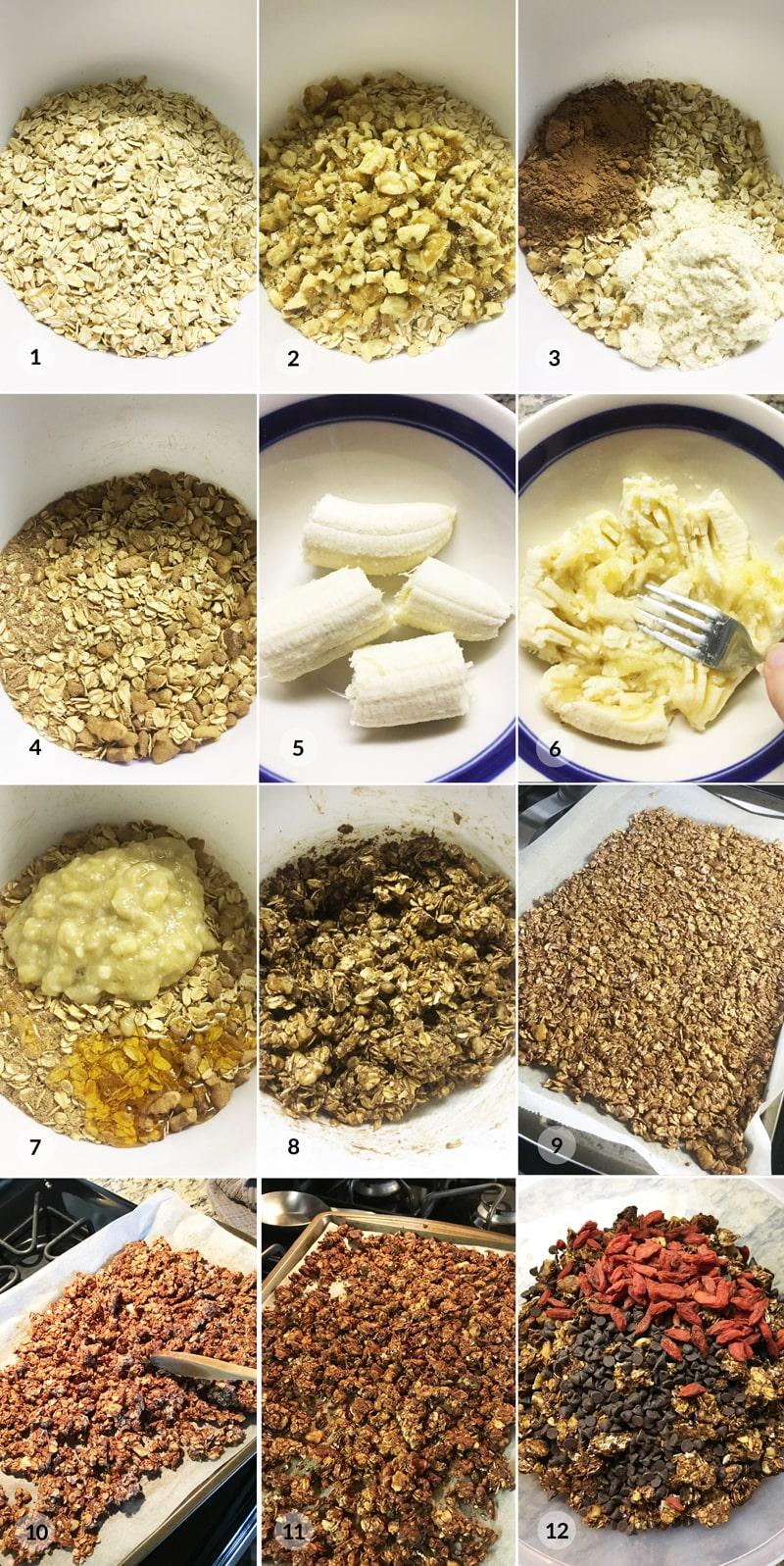 Granola postup receptu Bajola