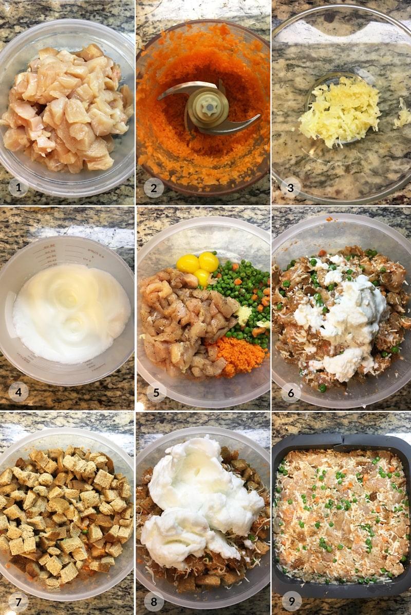 Velikonoční nádivka - recept postup Bajola