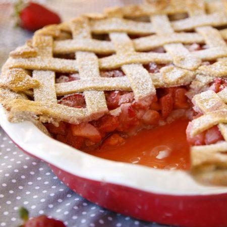 Fitness jahodový koláč - zdravý recept Bajola