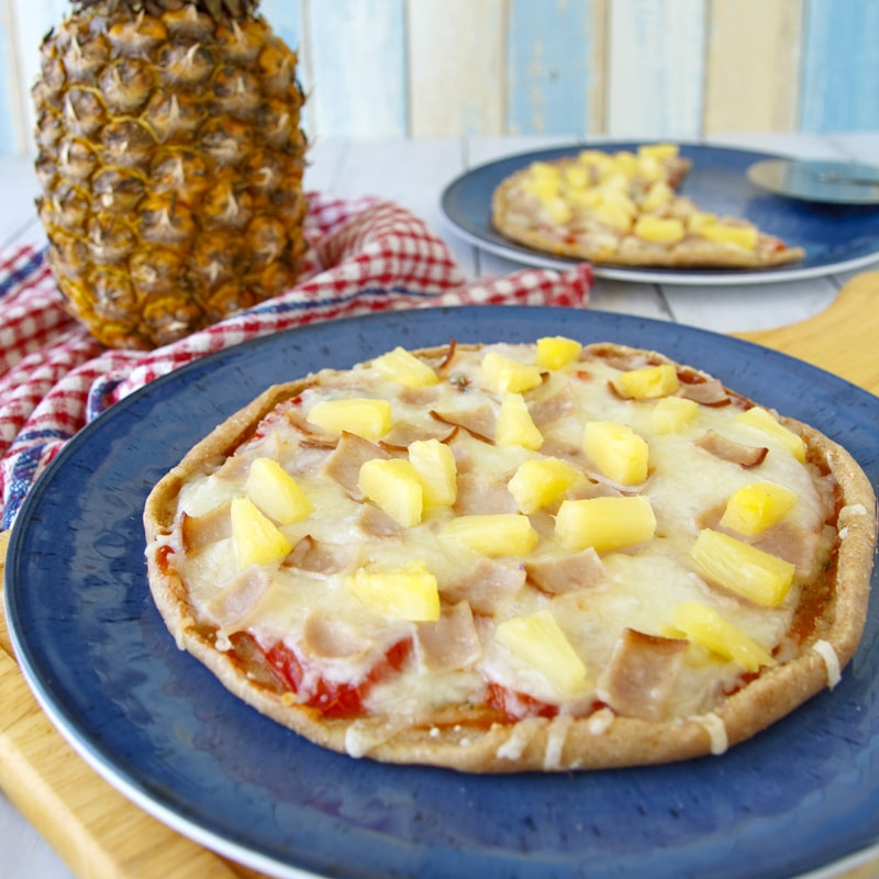 Fitness domácí pizza Hawai - zdravý recept Bajola