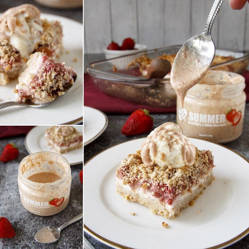 Fitness rebarborový koláč s drobenkou - recept Bajola