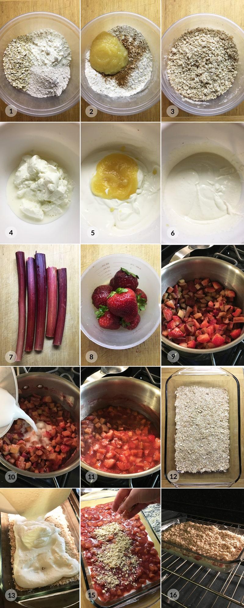 Fitness rebarborový koláč - foto postup receptu