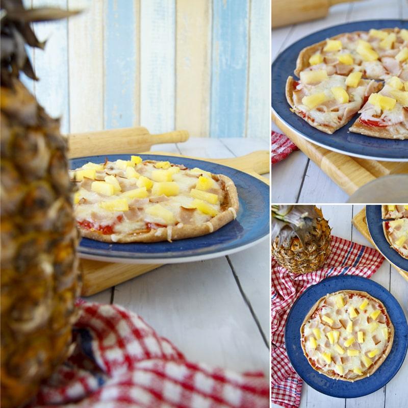 Pizza Hawai - domácí zdravý recept Bajola