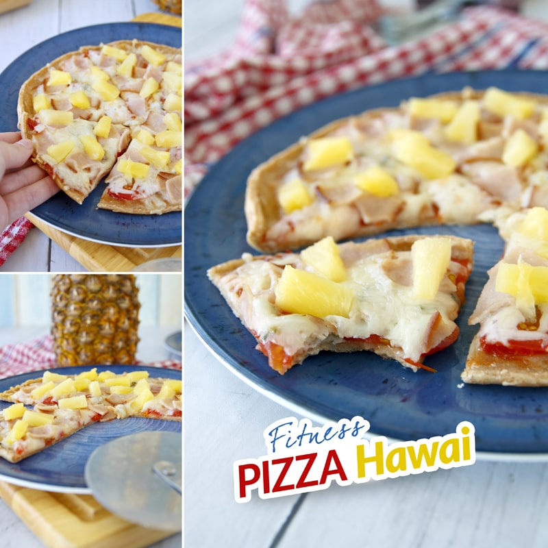 Pizza Hawai - zdravá fit - recept Bajola