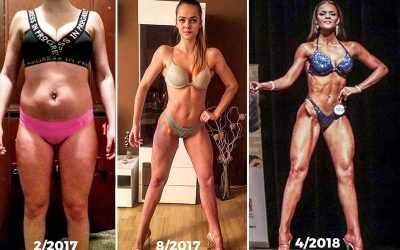 Proměna postavy fitnessky Dominiky Grigarové