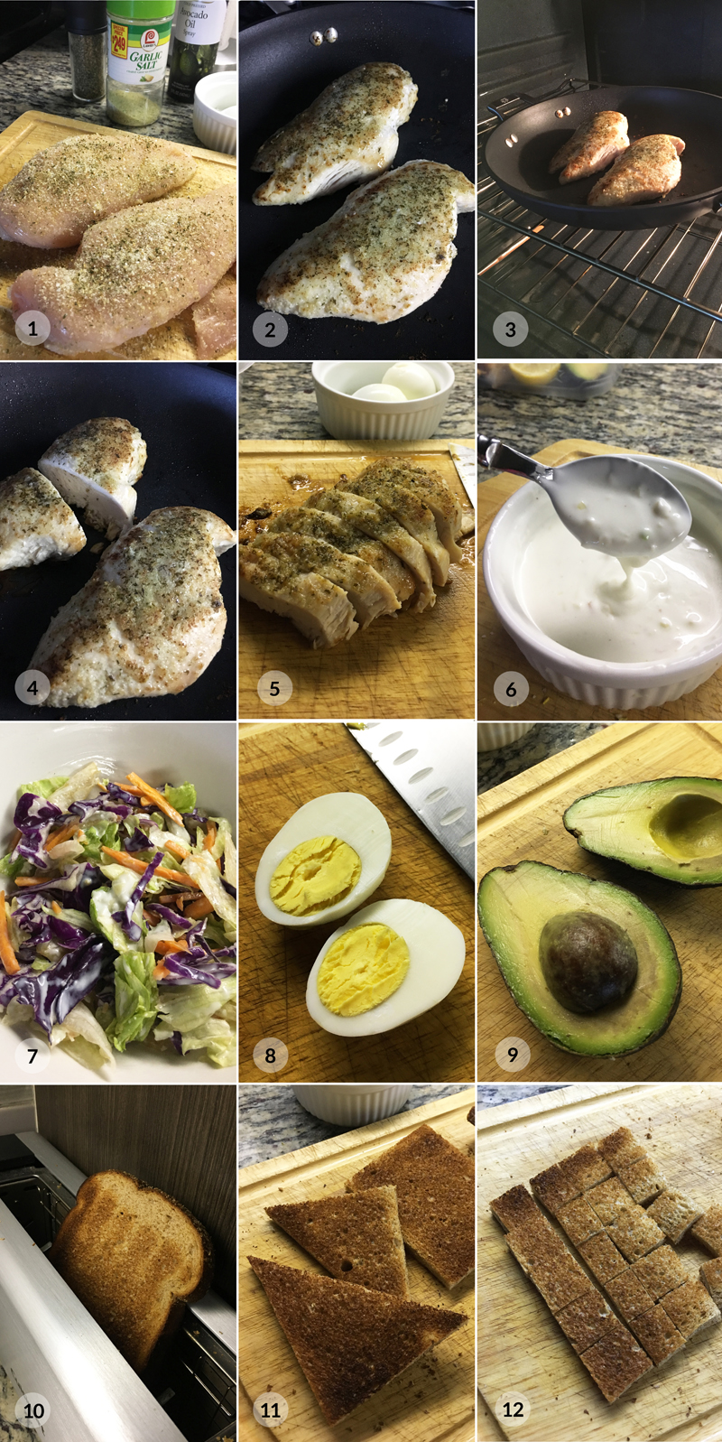 Fit kuřecí salát - zdravý recept Bajola