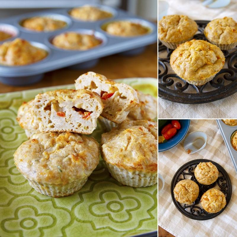 Zdravé cuketové muffiny s tuňákem - recept Bajola