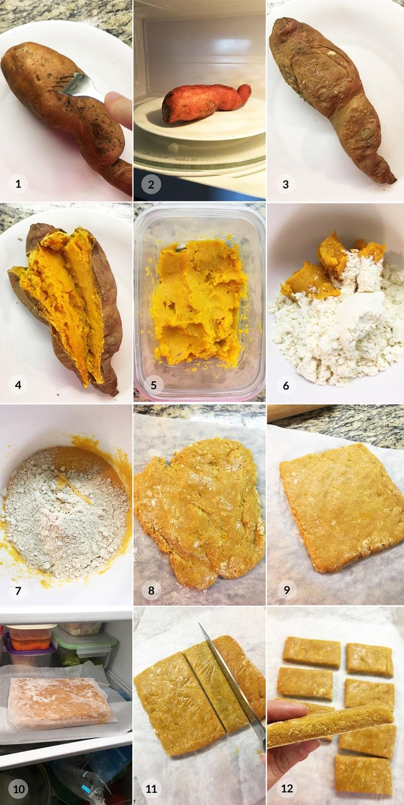 Domácí batátové proteinové tyčinky - foto postup receptu