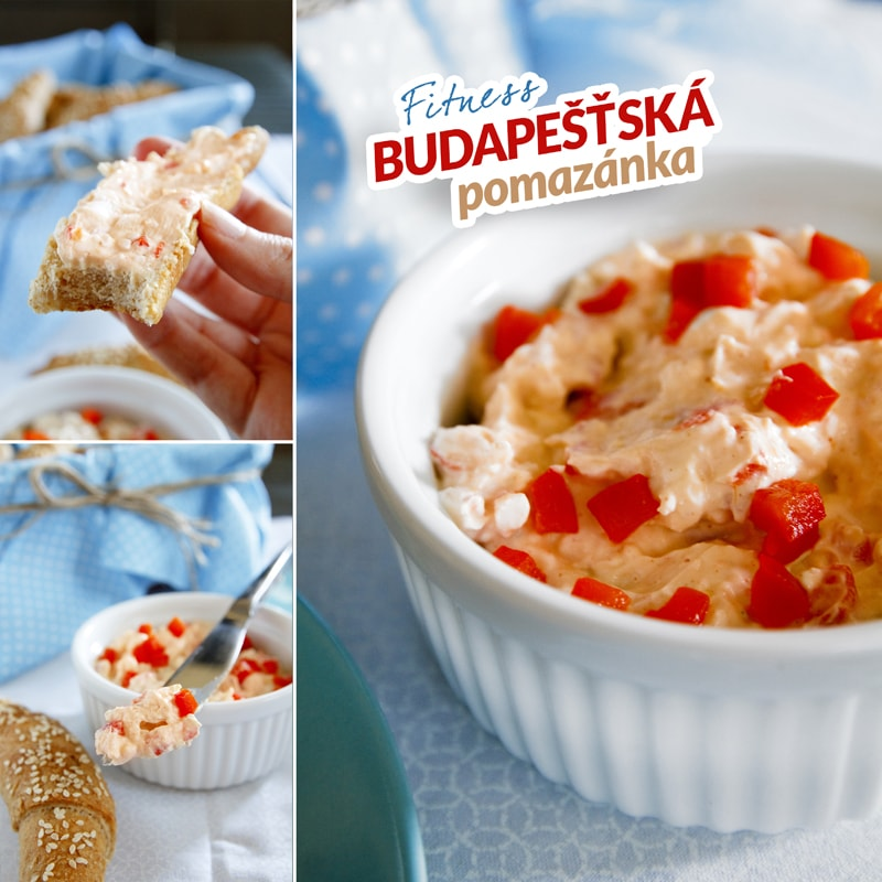 Fitness budapešťská pomazánka - recept Bajola