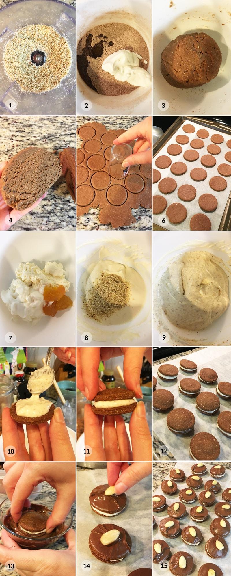 Išelské išlské ilšské dortíčky - vánoční cukroví foto postup