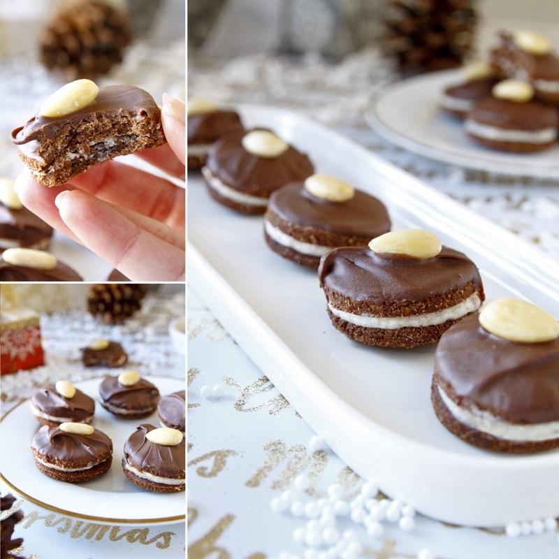 Zdravé išelské dortíčky - vánoční cukroví - recept Bajola