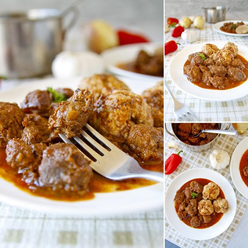Fit hovězí guláš - zdravý recept Bajola