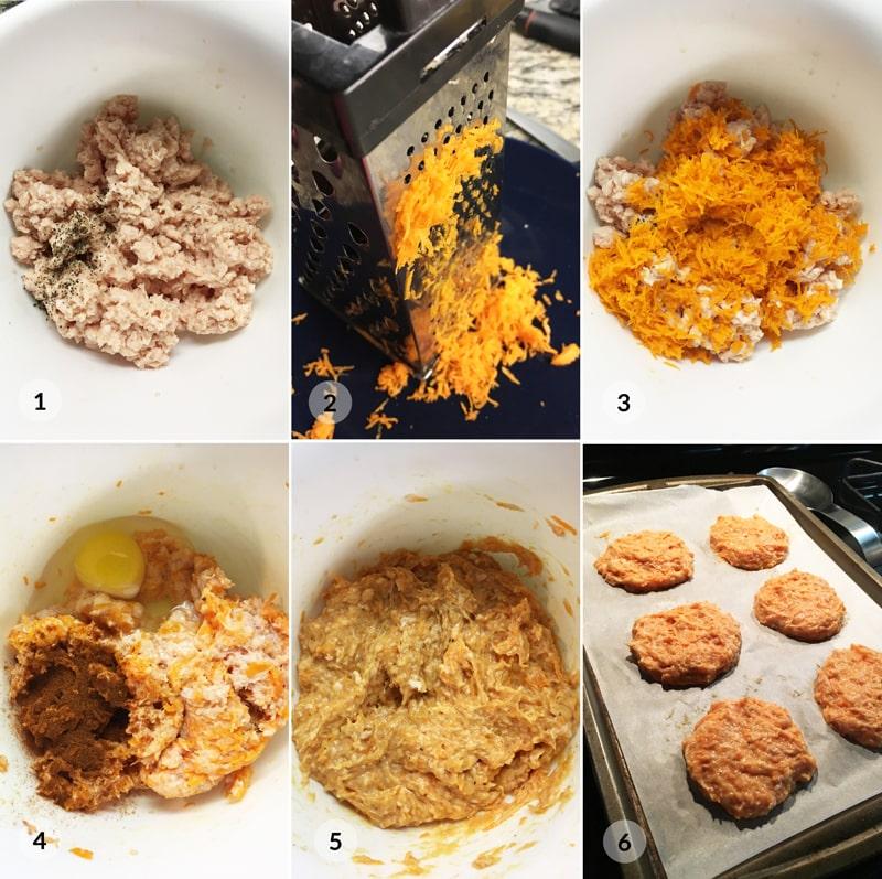 Fit krůtí mrkvové karbanátky - foto postup
