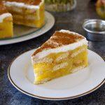 Fitness nepečený piškotový jablečný dort - recept Bajola