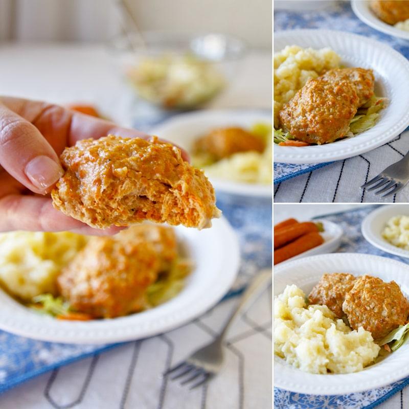 Zdravé krůtí mrkvové karbanátky - recept Bajola