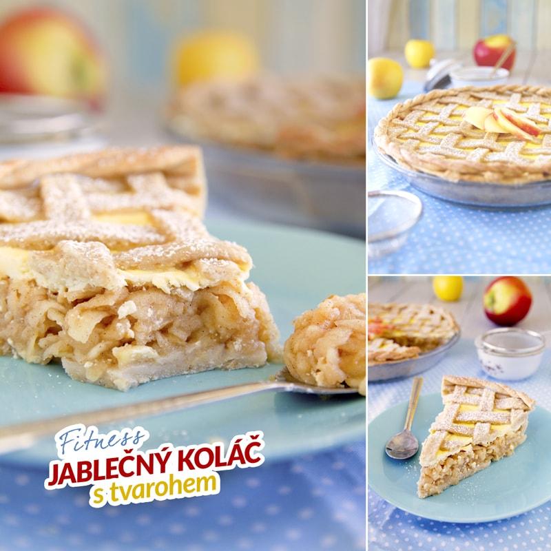 Fit mřížkový jablečný koláč - recept Bajola