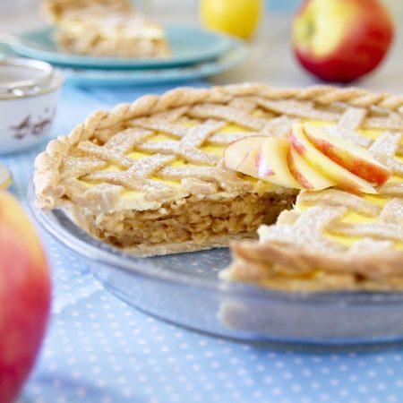 Fitness jablečný koláč s tvarohem - recept Bajola
