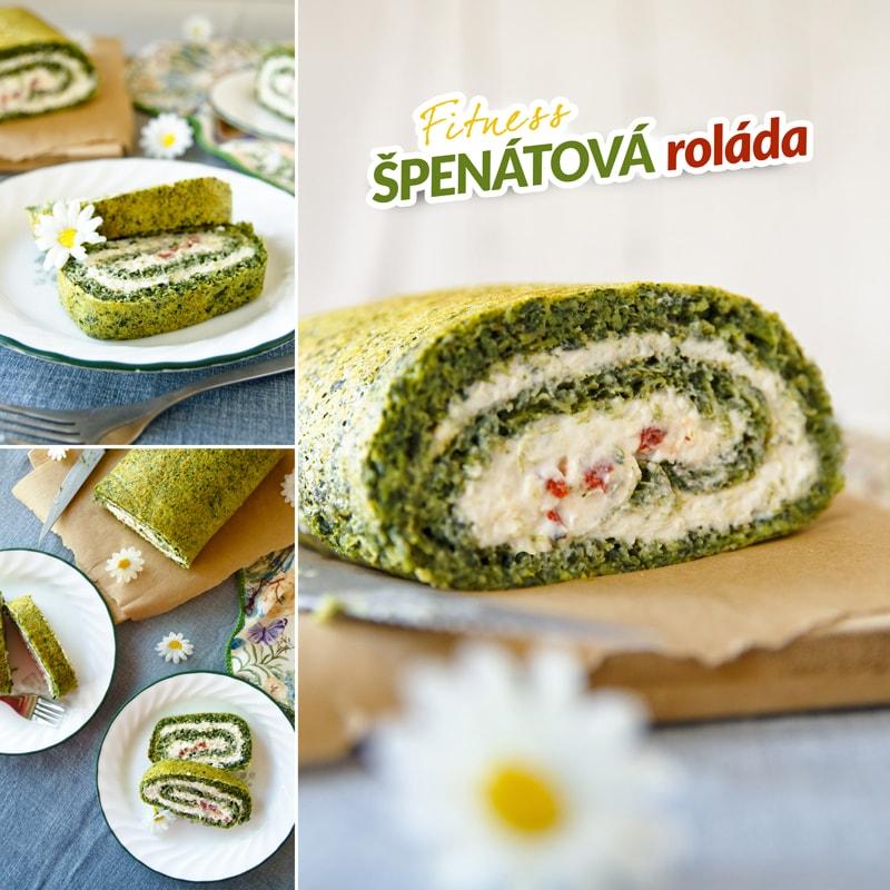 Zdravá špenátová roláda - recept Bajola