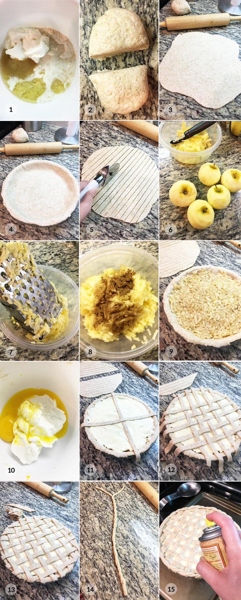 Zdravý mřížkový jablečný koláč - foto postup