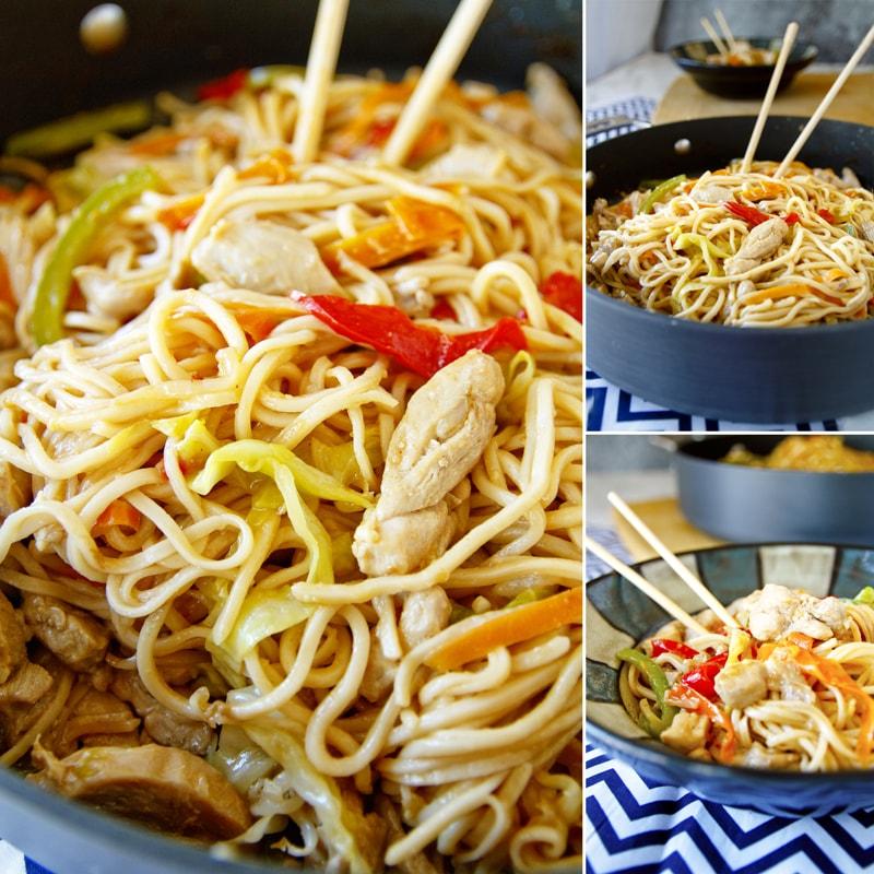 Fit čínské nudle s kuřecím a zeleninou - recept Bajola